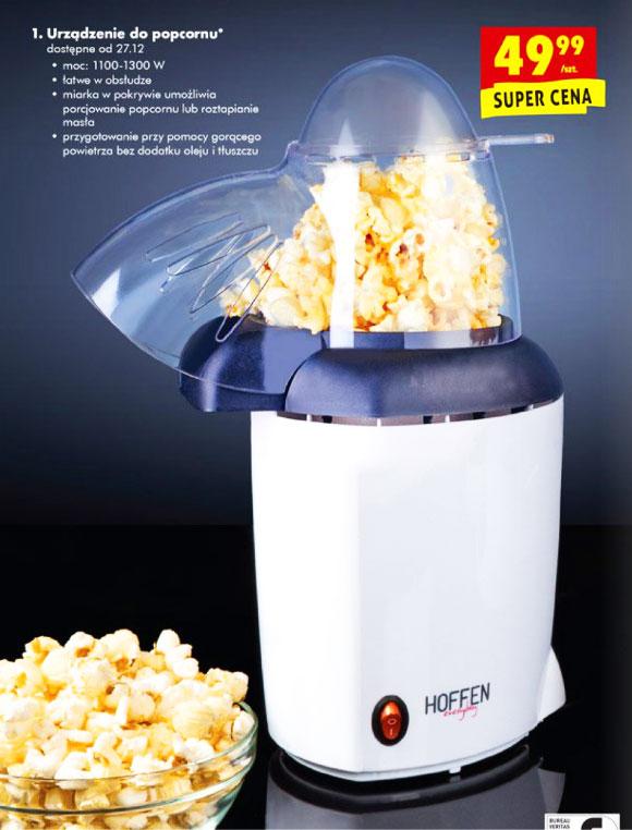Urządzenie do popcornu bez dodatku oleju i tłuszczu @Biedronka