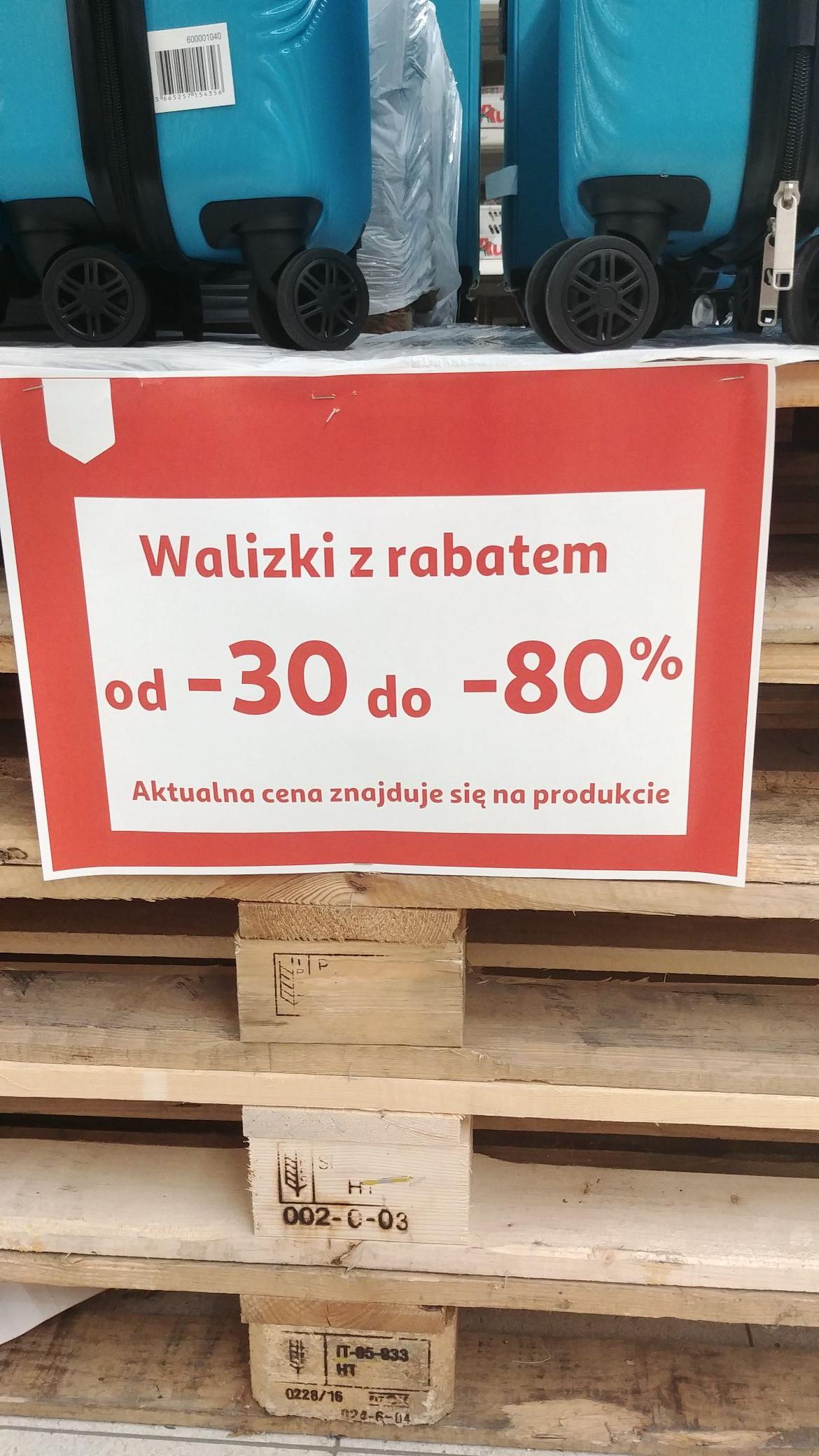 Walizki z rabatem od - 30% do -80% Auchan