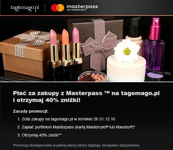 -40% na zakupy w Tagomago.pl z Masterpass
