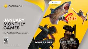 Playstation Plus Styczeń 2021, Shadow of the Tomb Raider, Greedfall, Maneater PS4 PS5