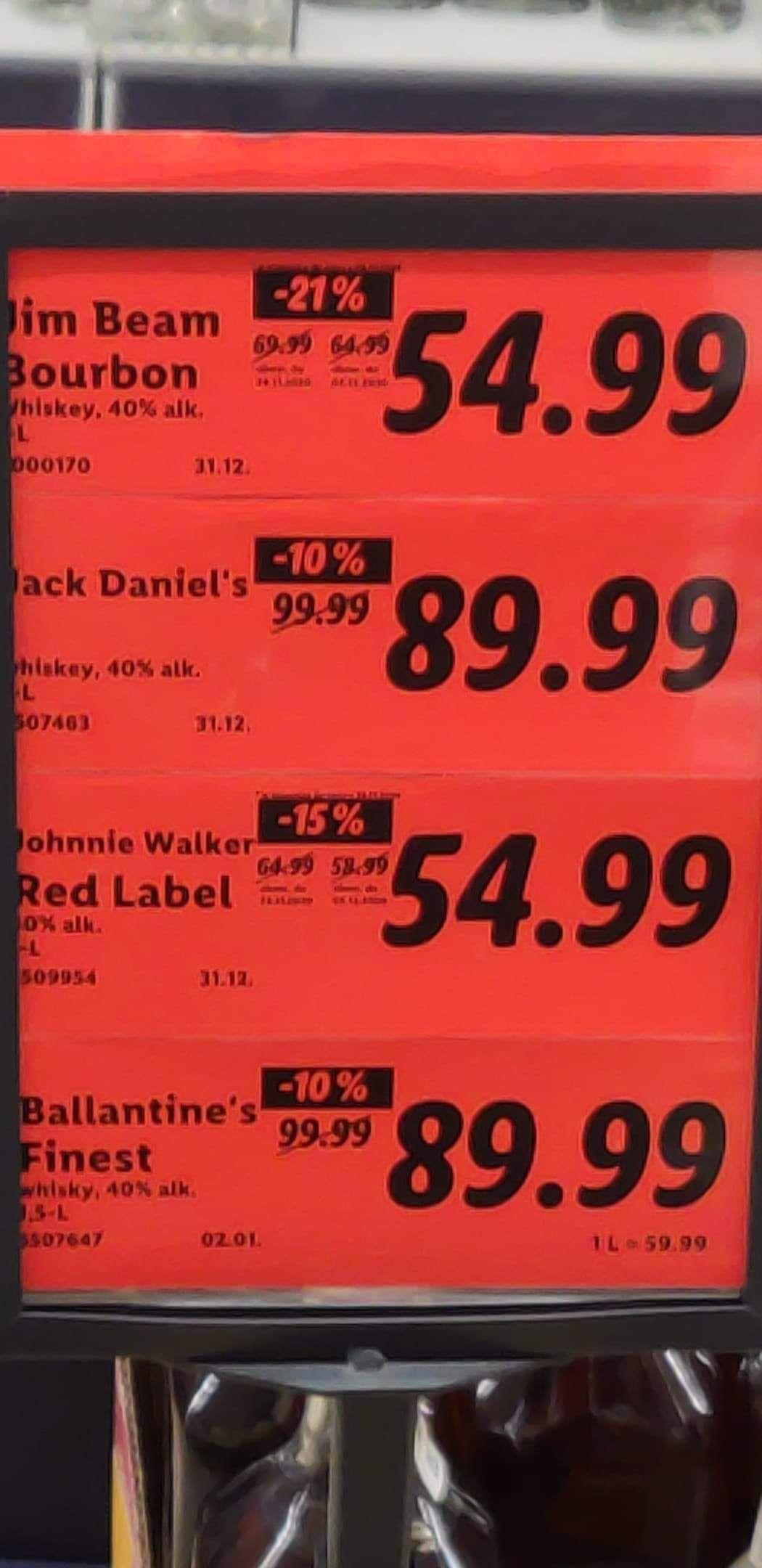 Ballantines Fines 1.5l Lidl EŁK SIKORSKIEGO 13