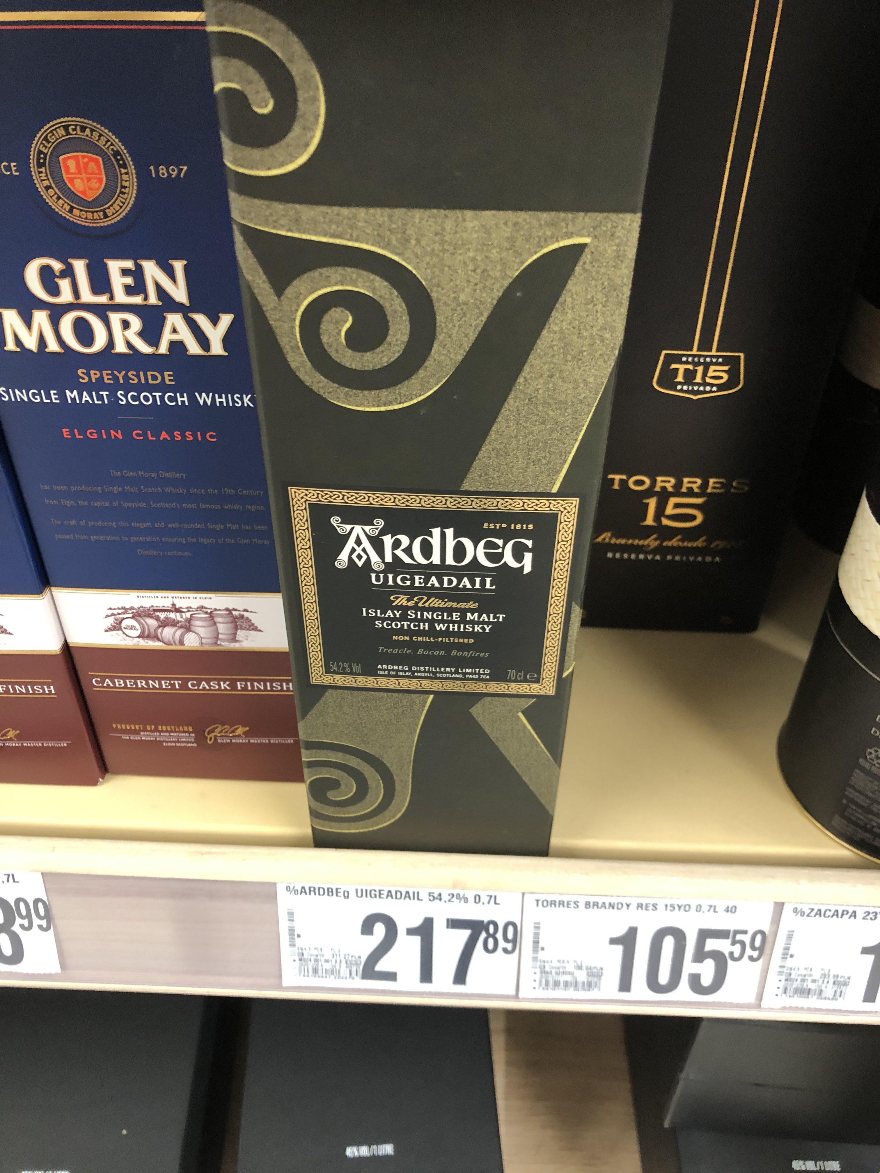 Whisky Ardbeg Uigeadail / 54,2% / 0,7l Auchan ul. Hubska Wrocław