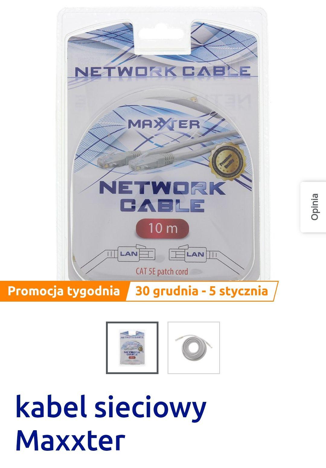 Kabel sieciowy Maxxter 10 M @Action