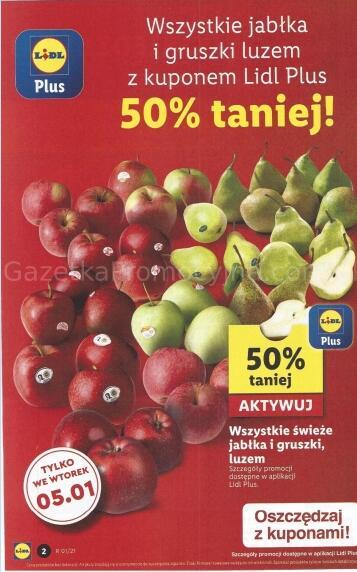 Wszystkie jabłka i gruszki luzem 50% taniej @Lidl