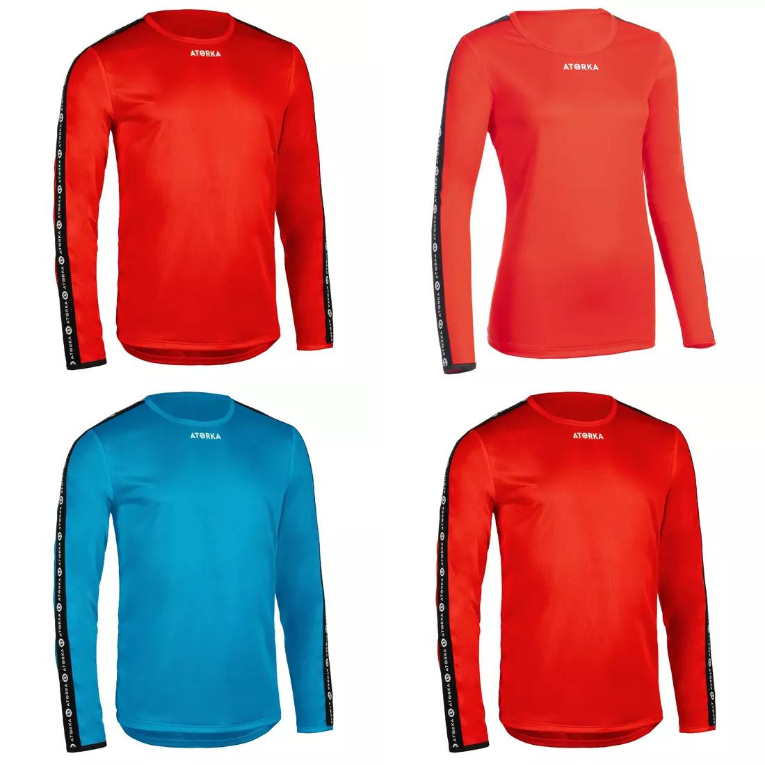 Decathlon, koszulki sportowe długi rękaw dla Taty(XS, M, XL, 2XL) Mamy (XS-XL), dzieci czerwona (7-9l i 12-15l) niebieska (5-15 lat)