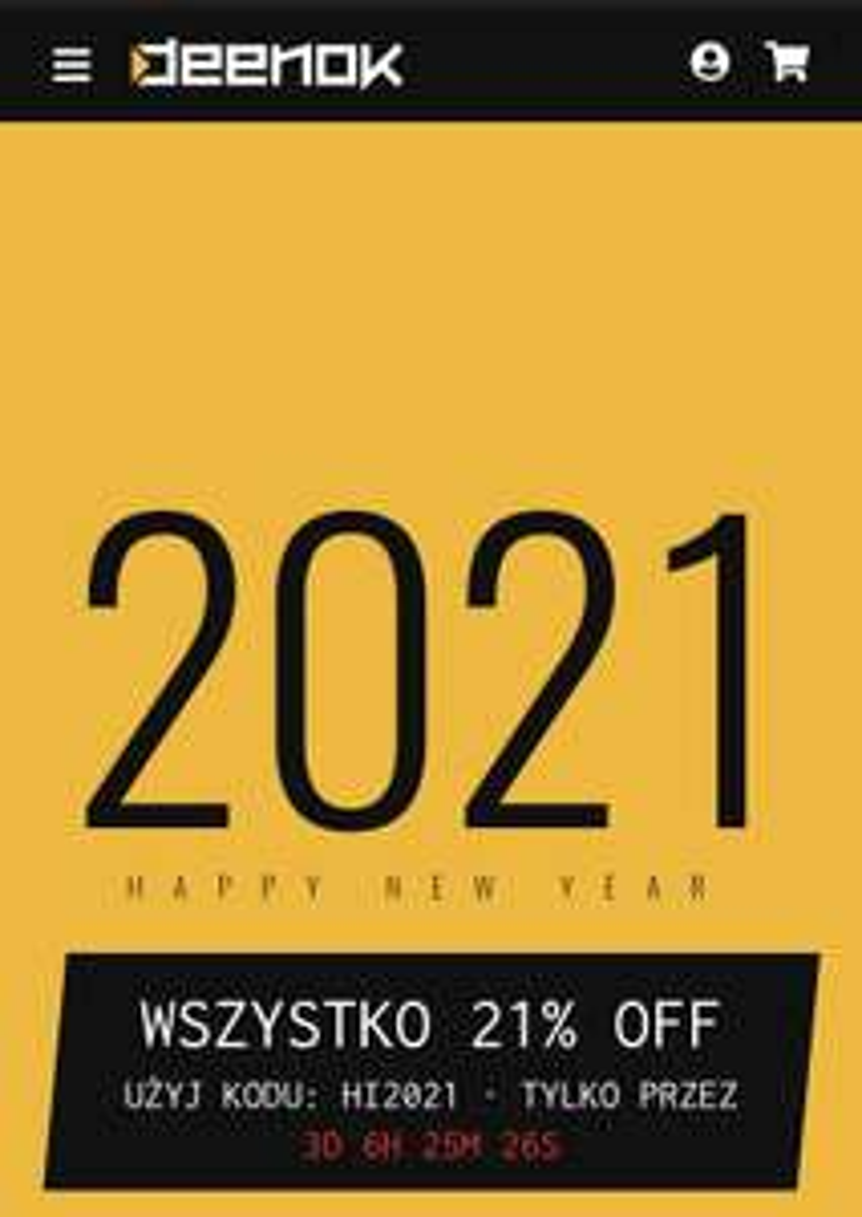 Skórki tańsze o 21% w sklepie deenook.com