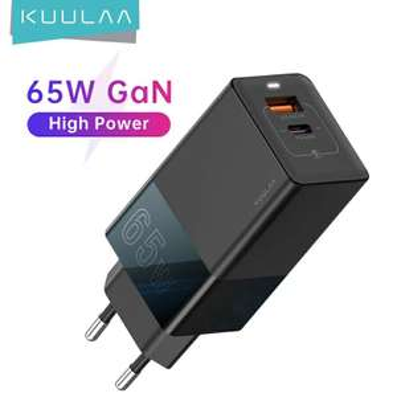 Ładowarka USB dwuportowa USB A i C, QC 4.0, PD 3.0 KUULAA 65W