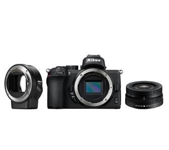 Aparat Nikon Z50 + NIKKOR Z DX 16-50mm + AF-S 35 mm f/1,8 G DX Nikkor + adapter FTZ