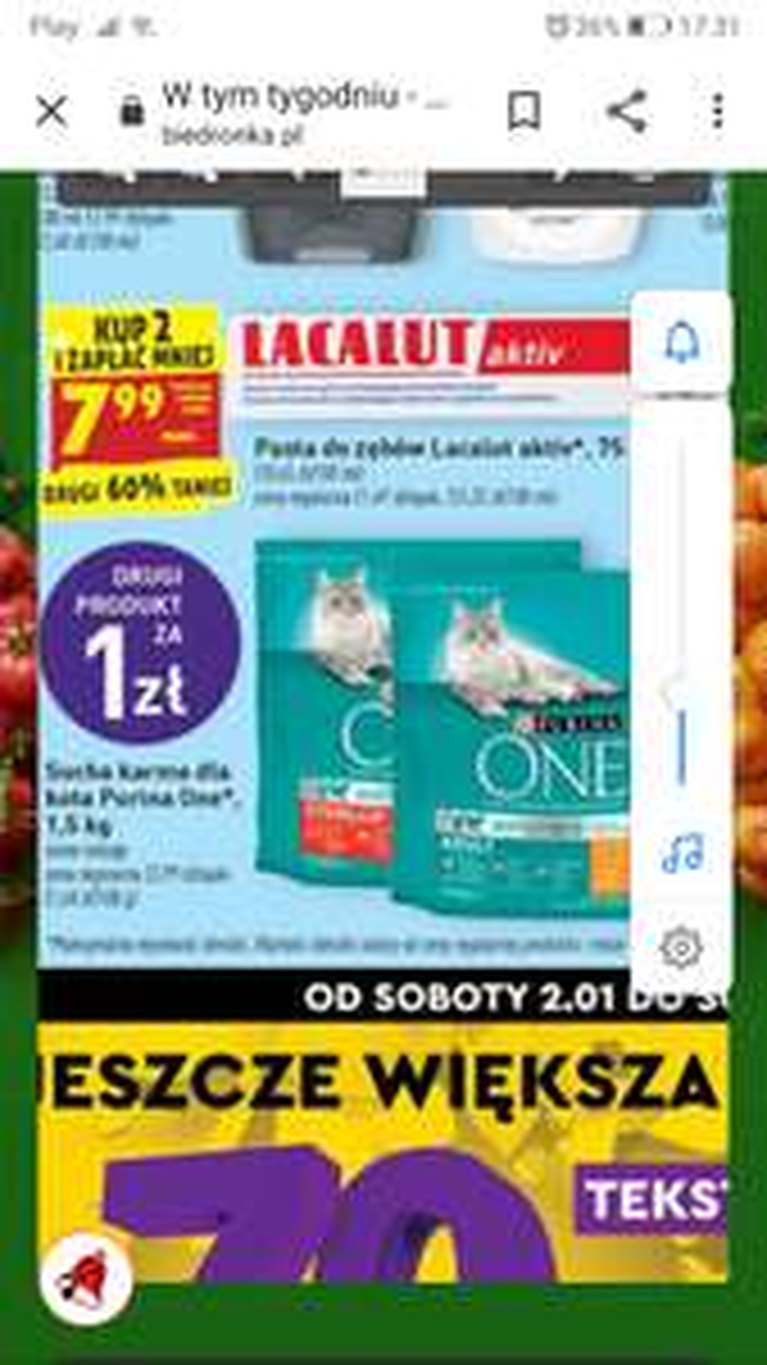Sucha karma dla kota Purina One różne rodzaje 3 kg.
