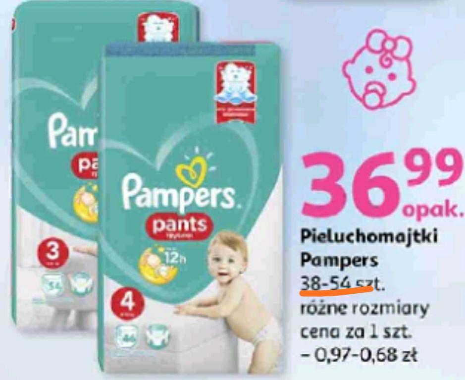 Auchan Pampers Pants Pieluchomajtki różne rozmiary