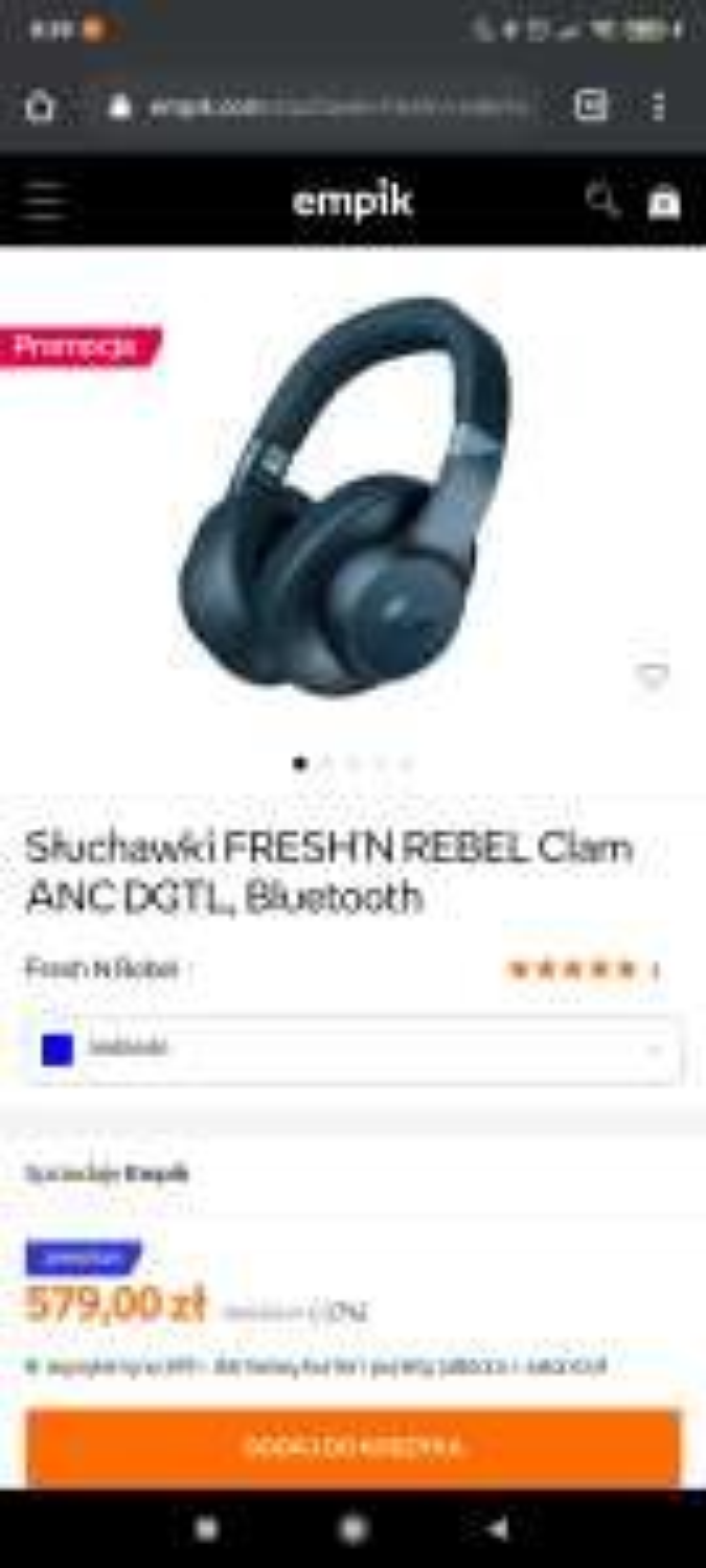 Słuchawki FRESH'N REBEL Clam ANC DGTL, Bluetooth, Empik