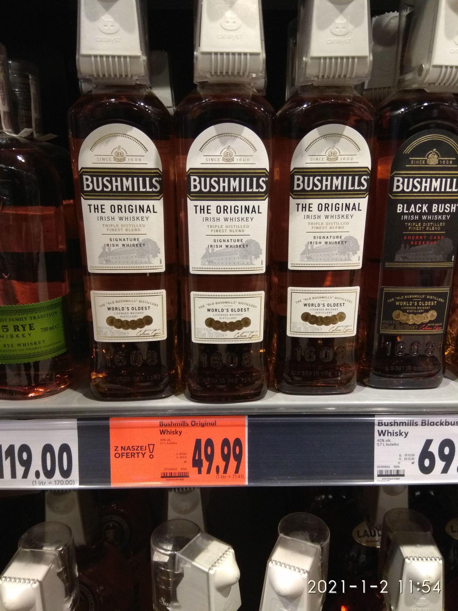 Whisky Bushmills 0.7 @Kaufland Stargard