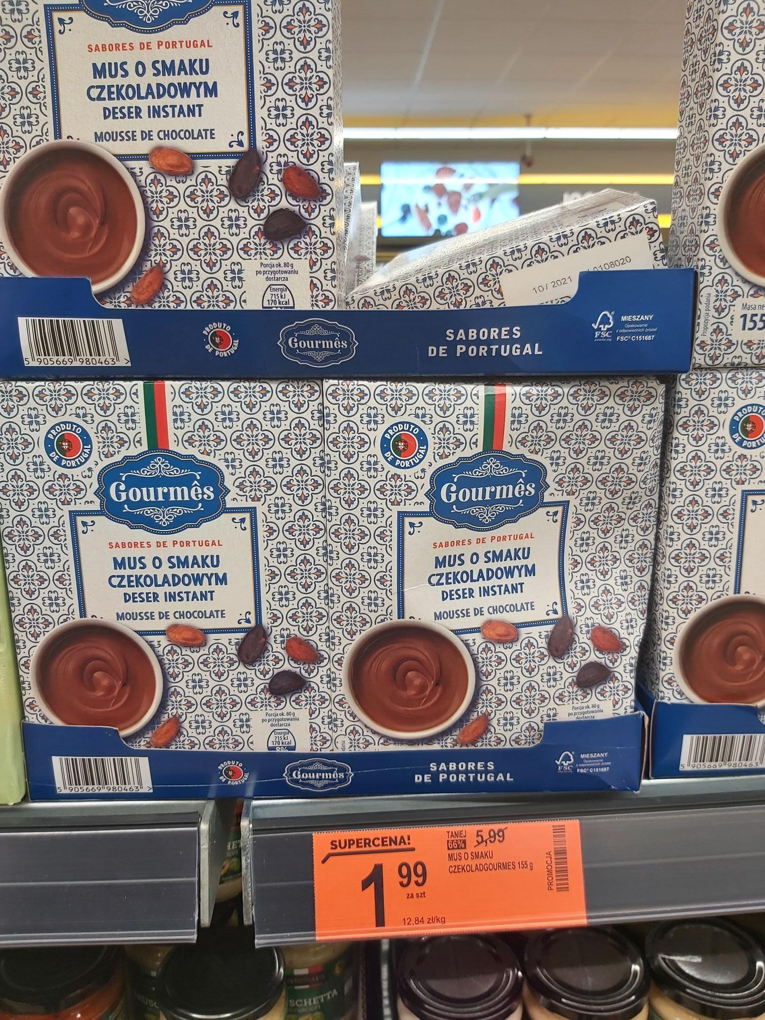 Biedronka Serock - mus o smaku czekoladowym Gourmes