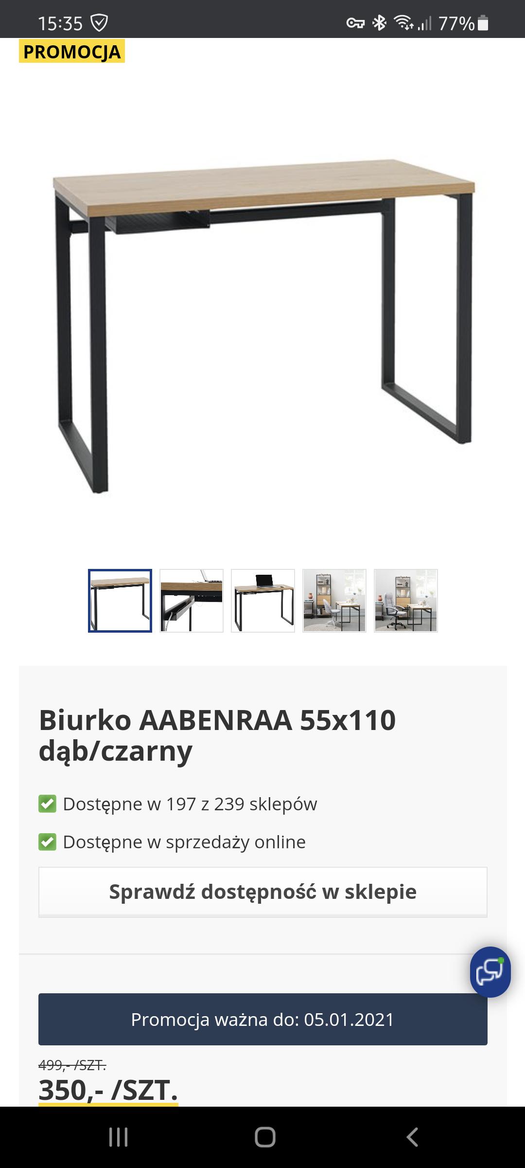 Jysk Biurko AABENRAA 55x110