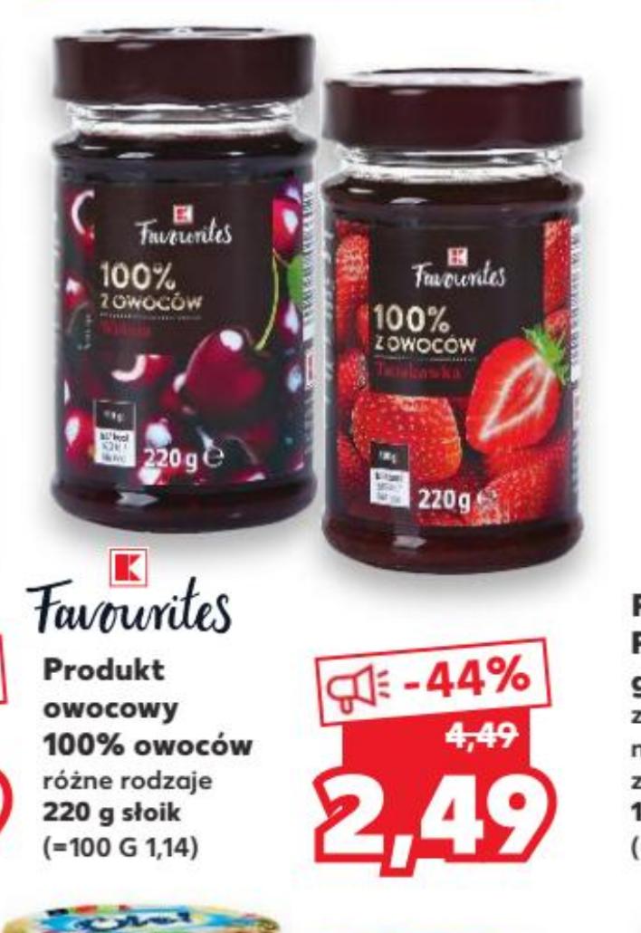 Błąd cenowy. Favourites 100% owoców