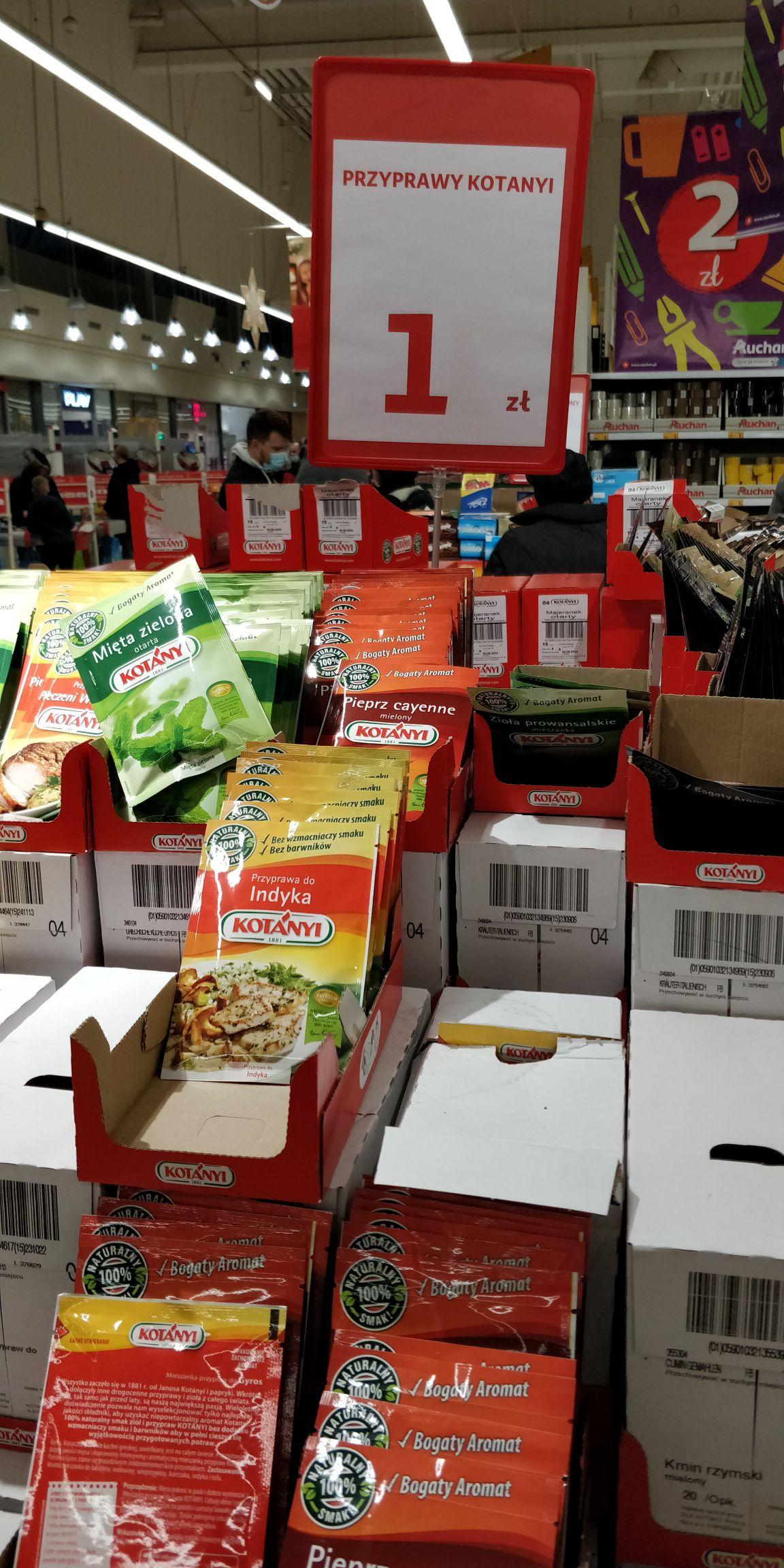 Auchan - wyprzedaże - przyprawy Kotányi