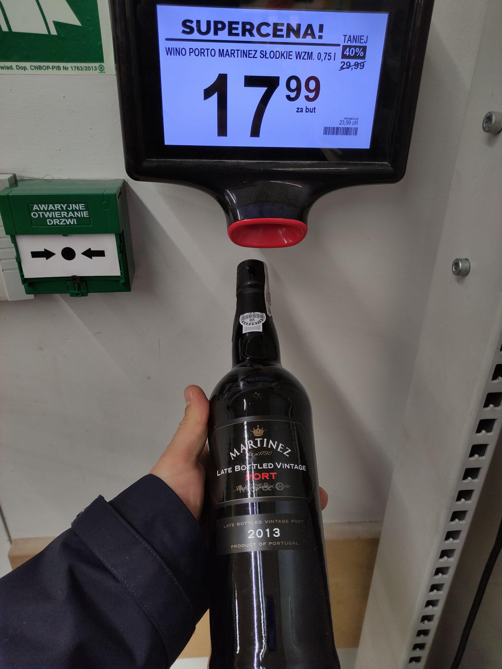 Słodkie Wino Martinez Port mocne 20% i inne biedronka