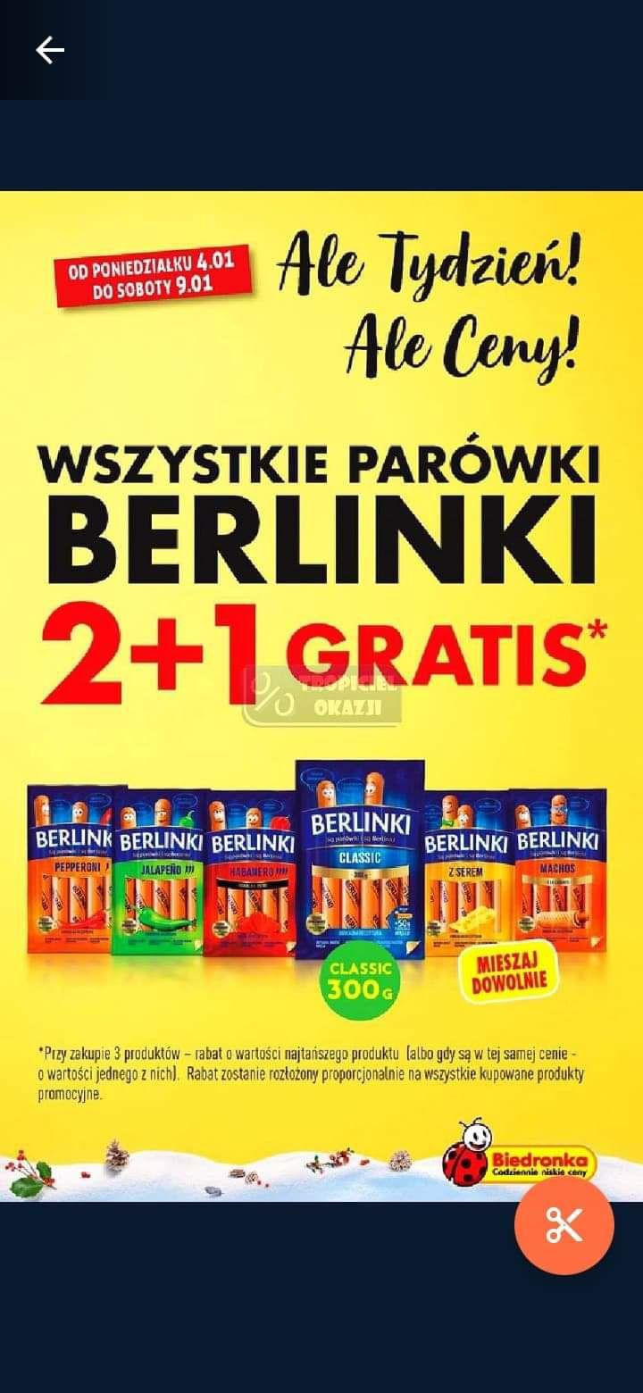 Wszystkie parówki Berlinki 2+1