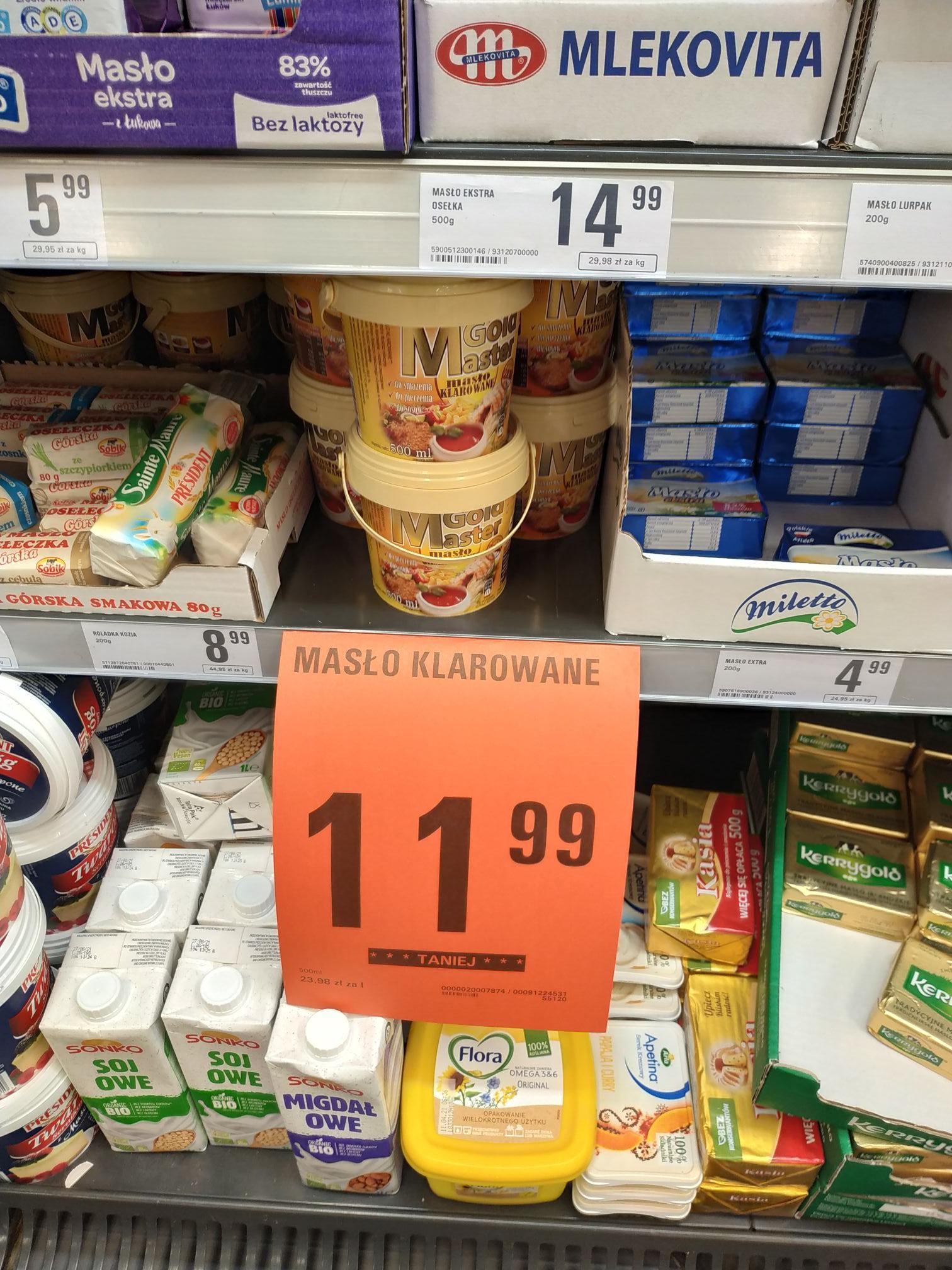 Netto Łódź Srebrzyńska masło klarowane Gold Master 500ml
