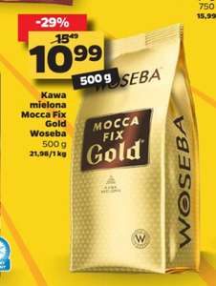 Kawa mielona Woseba Mocca Fix Gold 500g w Netto