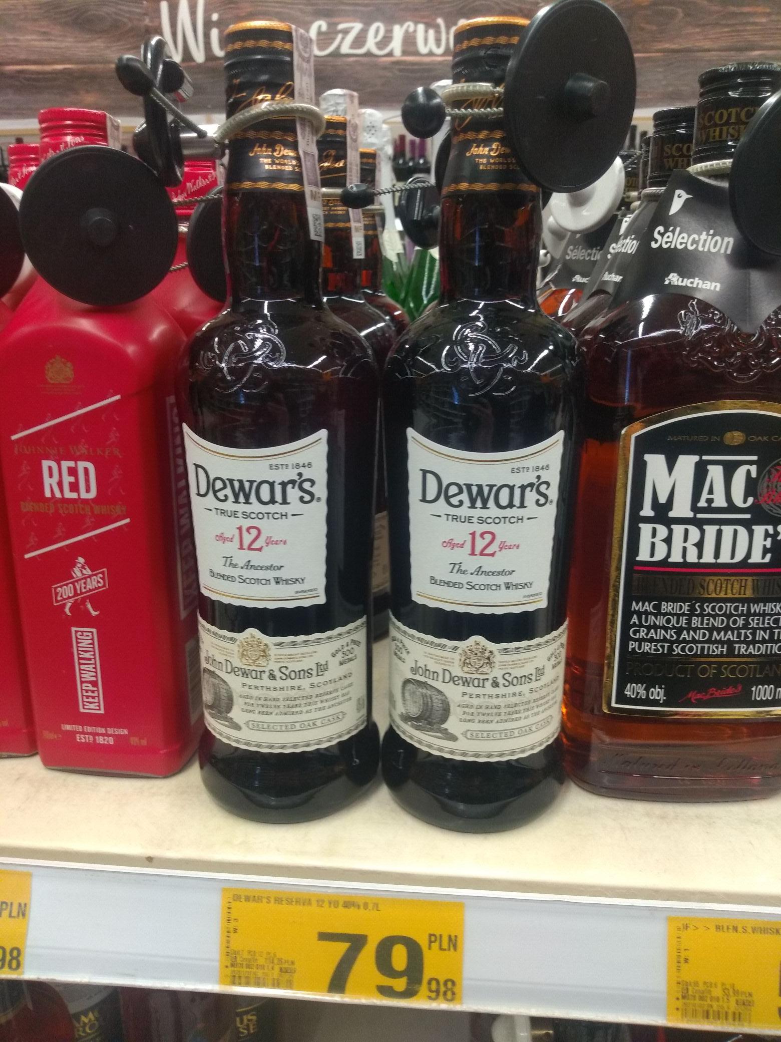 0,7 Whisky Dewar's 12