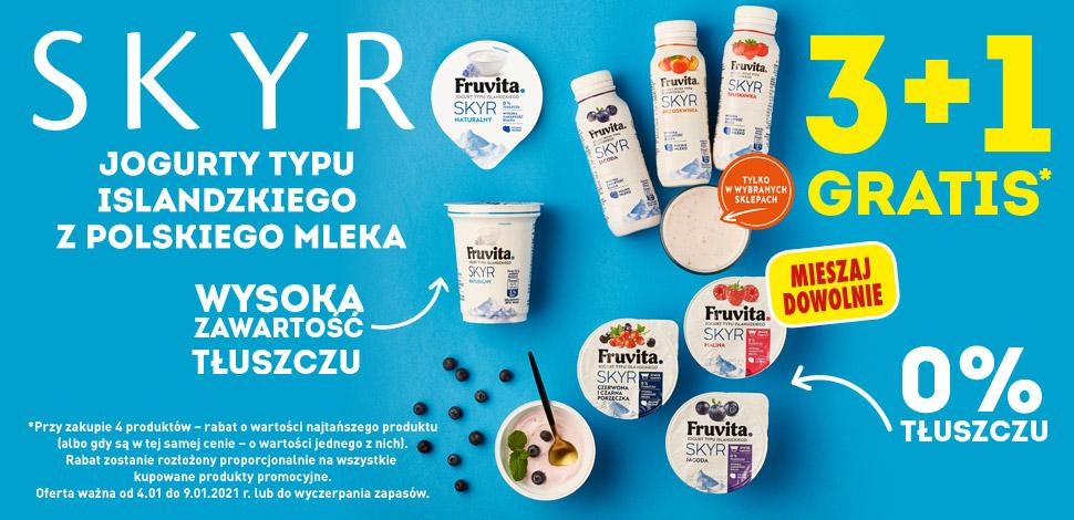 Jogurty Skyr Fruvita 3+1 Gratis