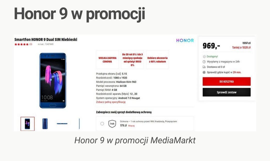Smartfon HONOR 9 Dual SIM Niebieski