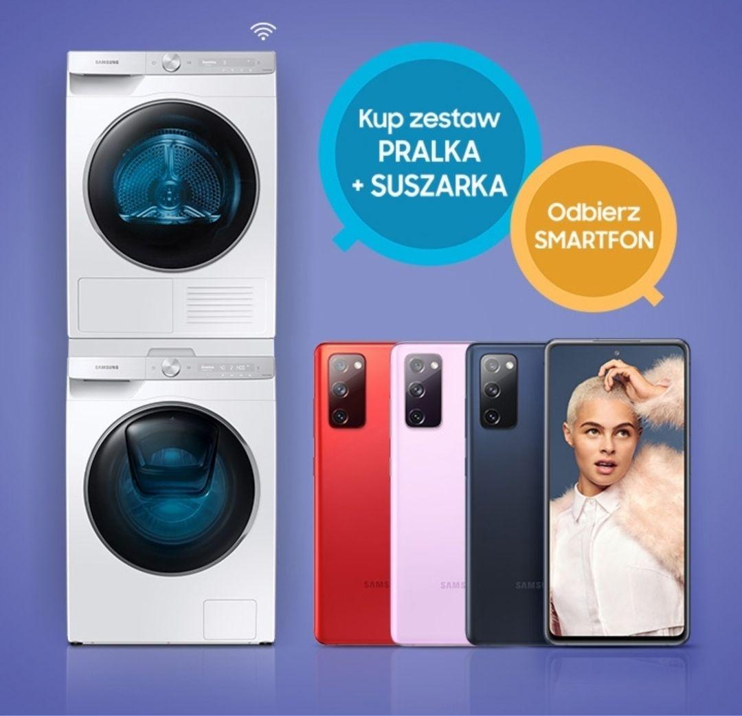 Samsung S20 FE lub Galaxy A51 gratis przy zakupie zestawu pralka+suszarka Samsung