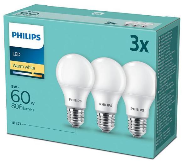 Philips LED 9 W (60 W) E27 3 szt. Darmowy odbiór w EURO RTV AGD