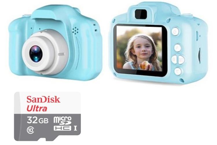 Aparat cyfrowy dla dziecka + microSDHC 32GB Ultra 100Mb/s (sam aparat 69zł) różne kolory