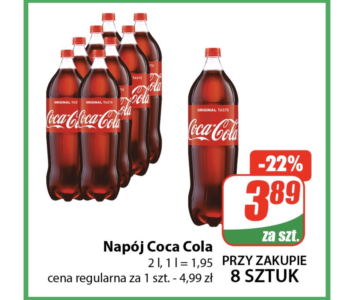 Coca Cola 2l 3,89zł przy zakupie 8szt - DINO