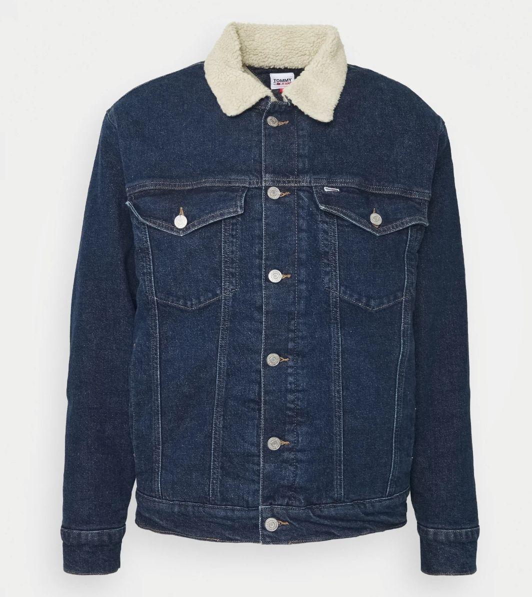 Tommy Jeans OVERSIZE SHERPA - Kurtka jeansowa (Tommy Hilfiger)