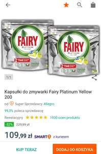 Kapsułki do zmywarki Fairy Platinum All in one 200szt. na Allegro