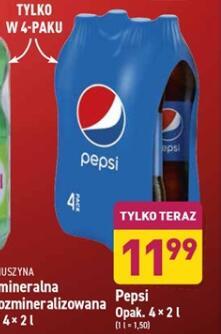 Pepsi 4-pak 4 x 2 l [cena za 1 l = 1,50 zł]
