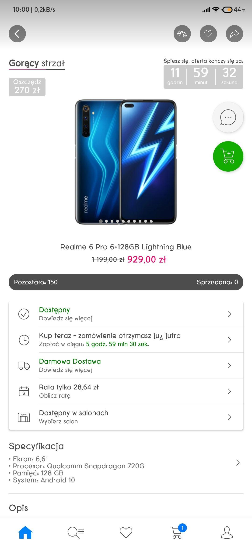 Realme 6 Pro 6+128GB Lightning Blue