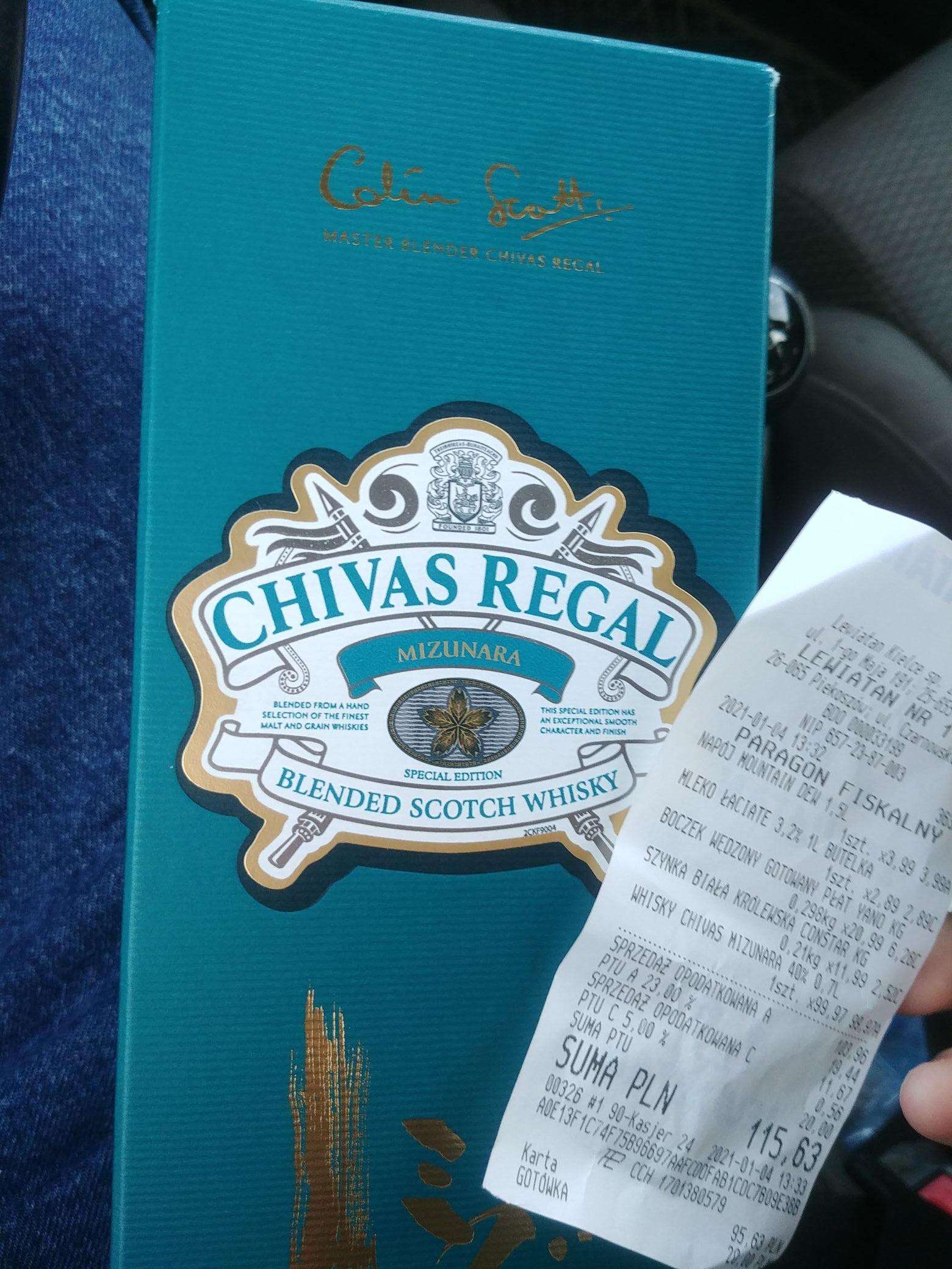 Chivas Regal Mizunara 0.7 za 99zl