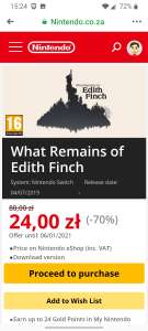 What Remains of Edith Finch na Nintendo Switch w promocji.
