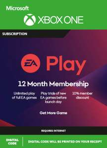 EA Play (EA Access) Pass 12 Months Xbox One 19.99€