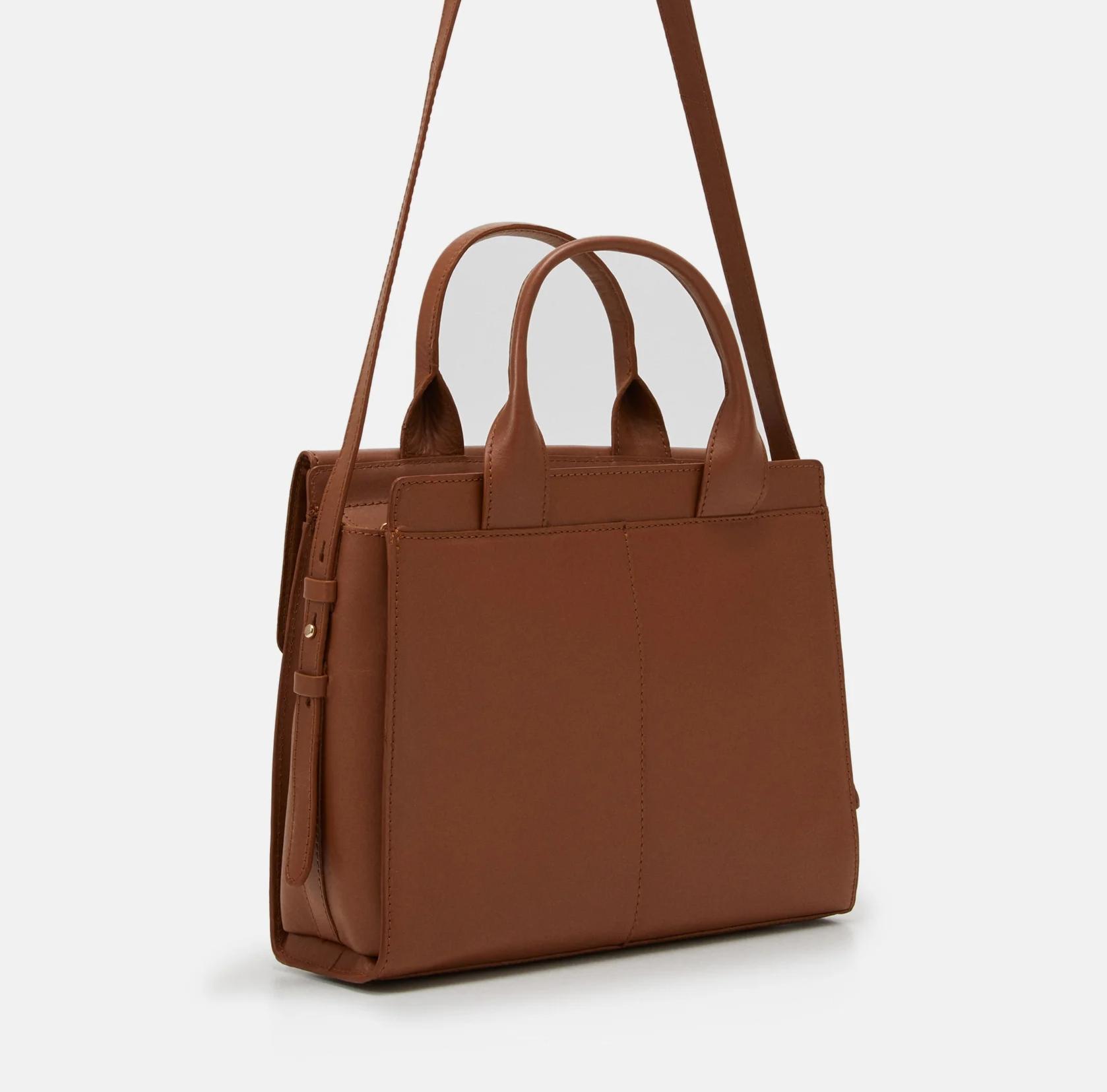 Skórzana torebka Zign z bawełnianą podszewką @Zalando
