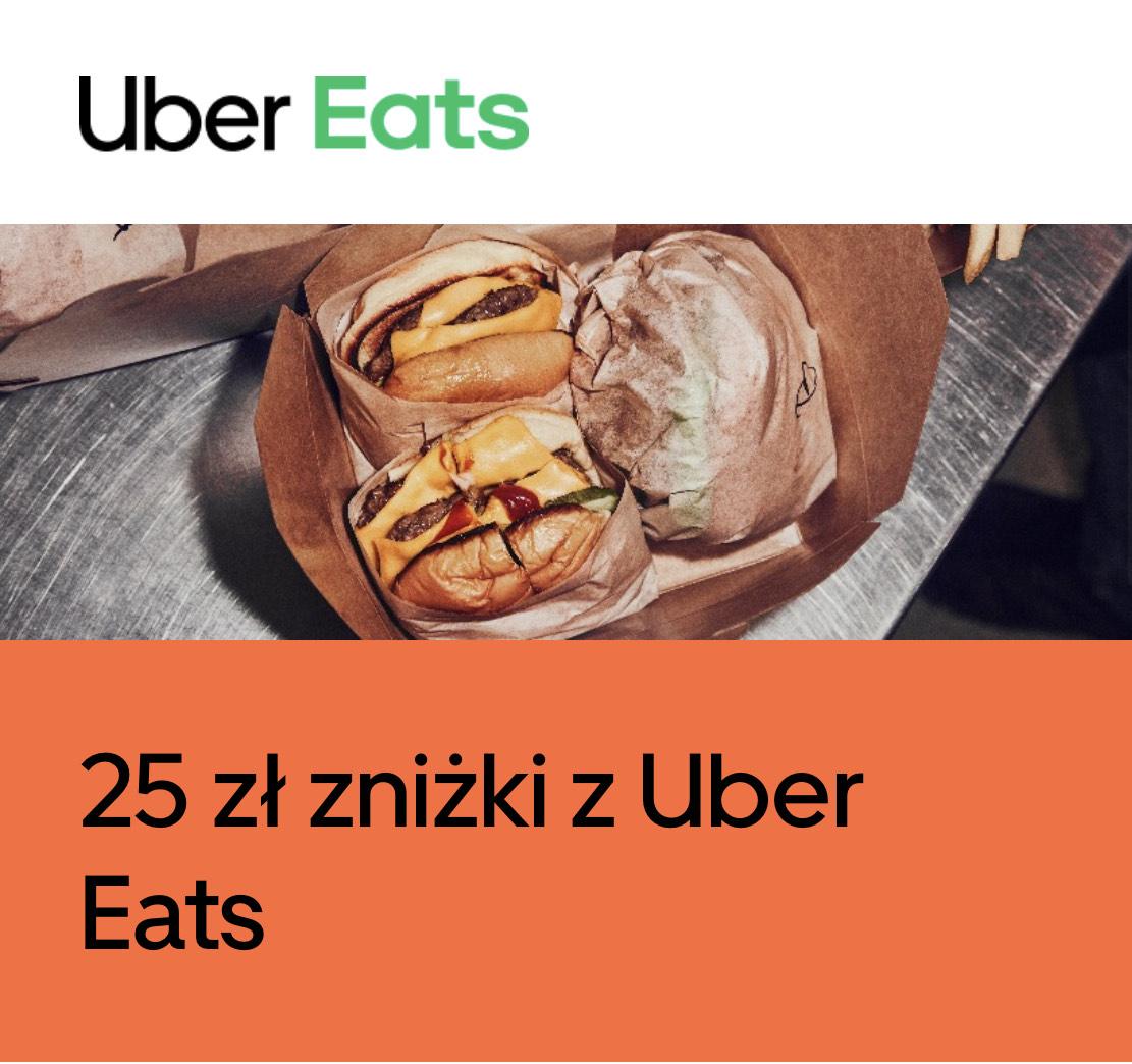 Zniżka 25 zł Uber Eats