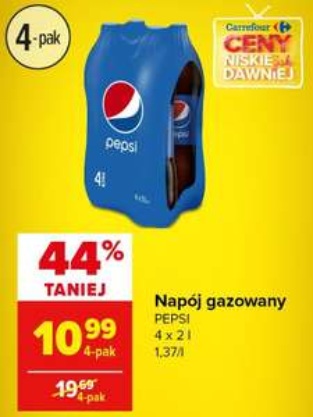 Pepsi 4x2l za 10.99zł - Carrefour