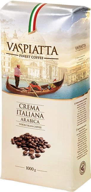 Kawa ziarnista Vaspiatta Crema Italiana 1 kg, odb.os 0zł