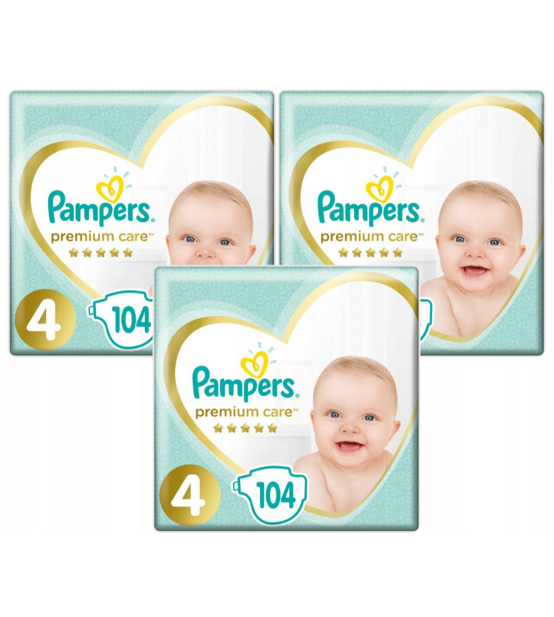 3 x pampers premium care 4 104 szt