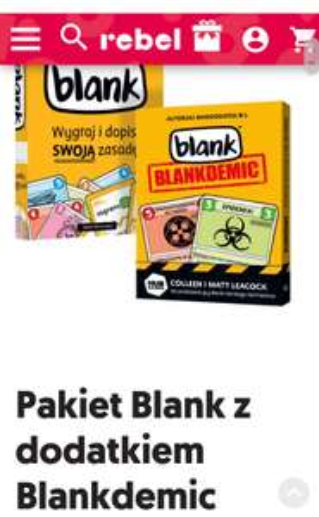 Pakiet Blank z dodatkiem Blankdemic
