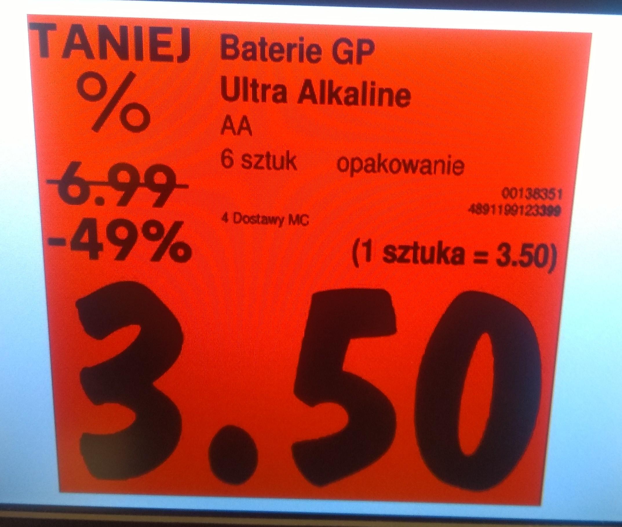 Baterie AA GP Ultra alkaline 6 szt - Kaufland Piastów