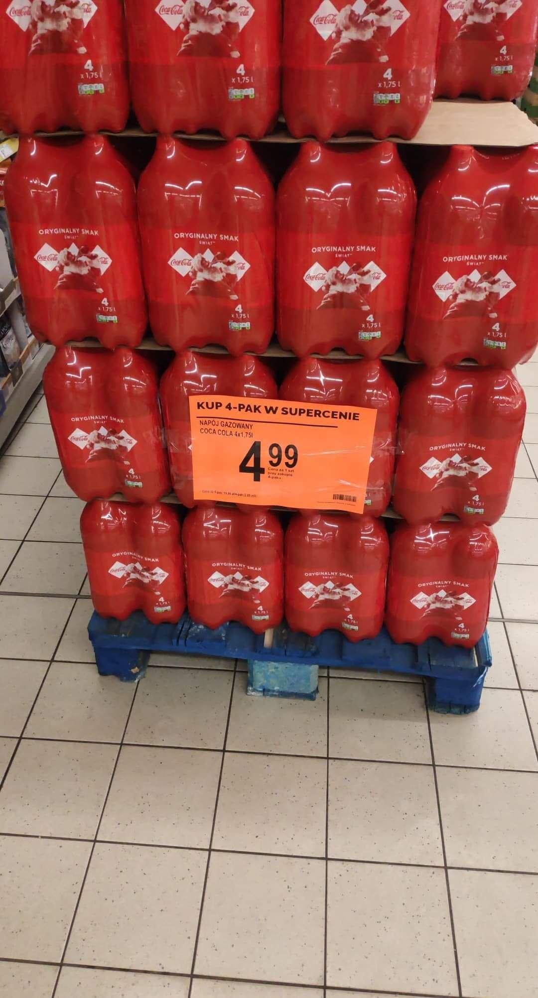 Cena za 1szt Coca Cola 1.75l przy zakupie 4paku