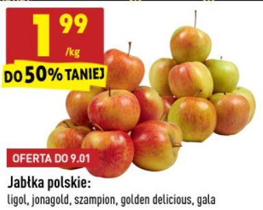 Jabłka polskie 1,99/kg Biedronka
