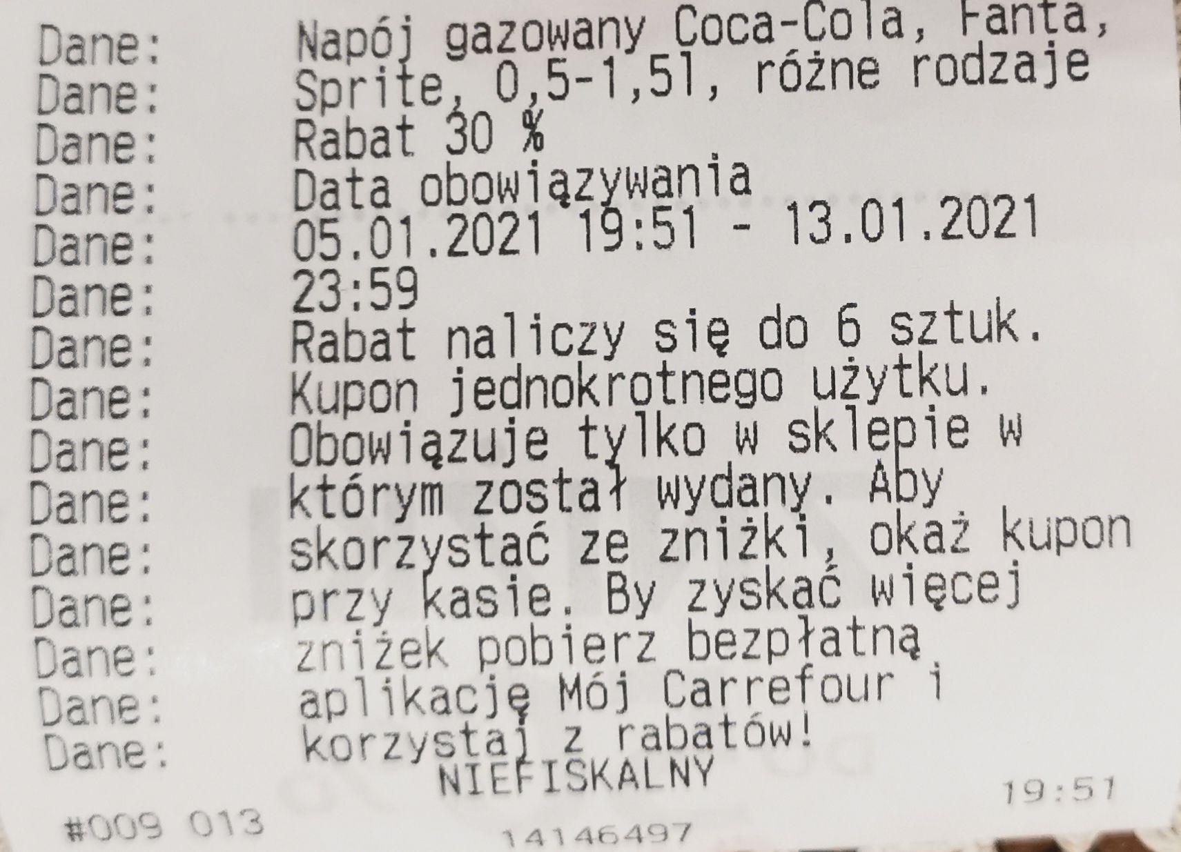 Przyprawy Kamis, Coca-Cola, Fanta, Sprite - rabat 30% od cen z ub. roku - Carrefour