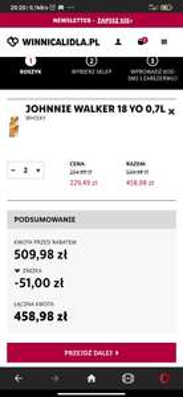 Whisky JOHNNIE WALKER 18 YO 0,7L Winnica lidla