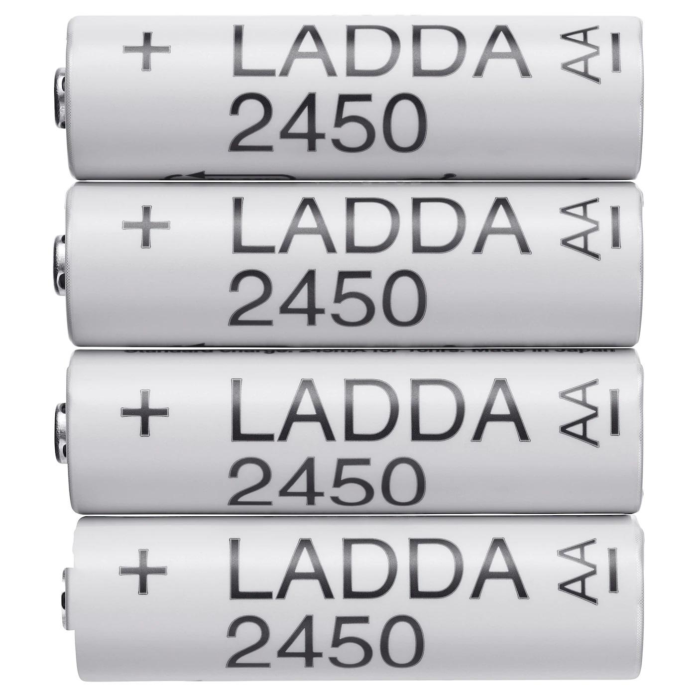 LADDA ( IKEA ) 2450mAh 8 sztuk przesyłka SMART Kod producenta 23076 Made in Japan AA HR6 R6 - ogniwa FDK jak Eneloop Pro